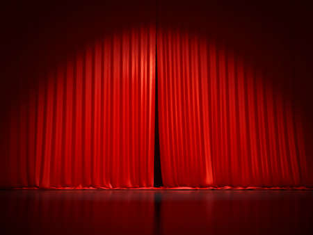 A typical stage curtain background 3D illustration