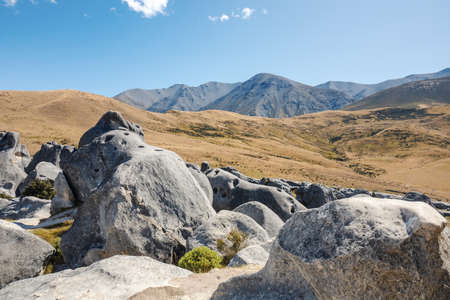 An image of a landscape scenery at Castle Hill New Zealand