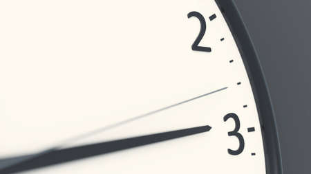 clock detail pointing to three 3D illustration