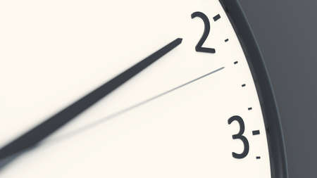 clock detail pointing to two 3D illustration