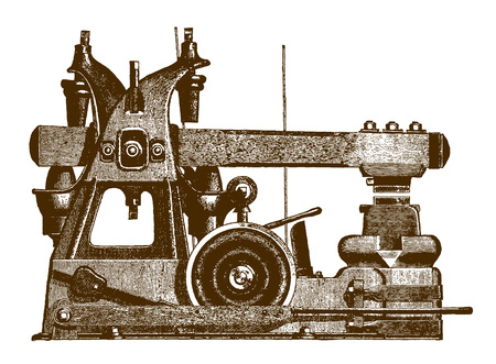 Historic hammering machineÊ(after an engraving or etching from the 19th century)