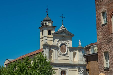 Outer view to the San Giovanni Church in the historic city of Alba Imagens