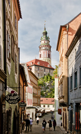 krumlov: Czech Krumlov Stock Photo