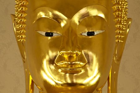 Face of Buddha images in Thailand photo
