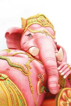Reclining elephant head god  photo