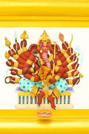 Multi arms of the elephant head god photo