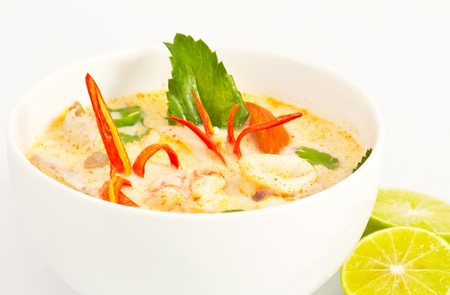 Thai style spicy soup name is Tom Yum Stock Photo - 8624952