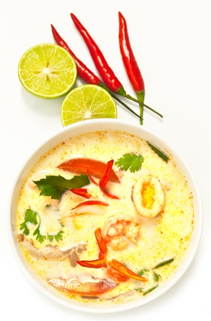 Tom Yum,Thai style spicy soup photo