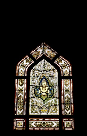 Stained glass in Thai temple