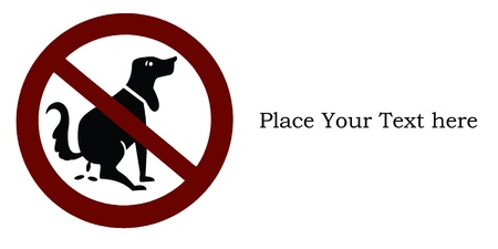 No dog shitting signs Stock Photo - 8665900