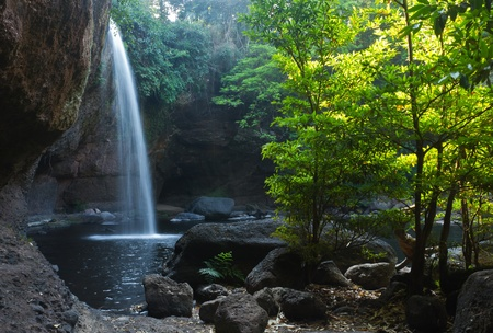 Waterfall in Thailand national park photo
