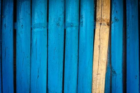 Bamboo wall painted blue Reklamní fotografie