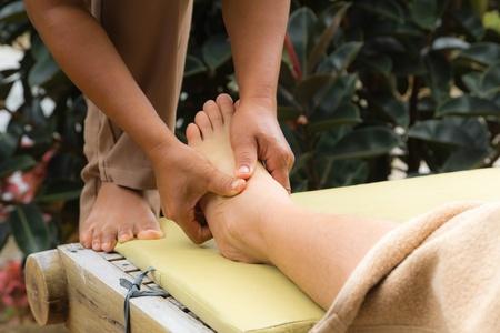 Thai style foot massage photo