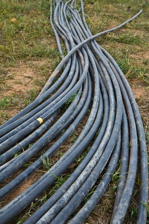 Water supply tube in farmland Stock Photo - 12056692
