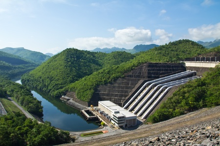 power station: Hydroelectric power plant Stock Photo