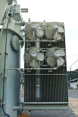 Cooling fan of transformer Stock Photo - 13283796