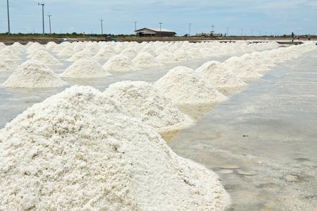evaporating: Salt farm Stock Photo