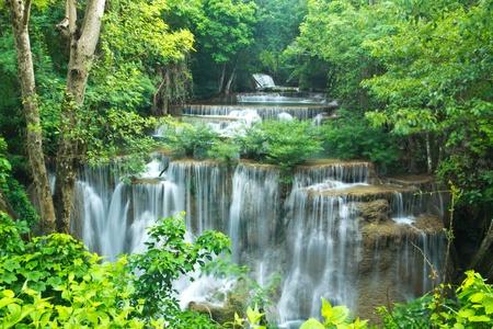 Waterfall in national park of Thailand Standard-Bild