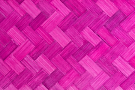 Weave bamboo texture pink color use as background