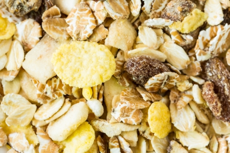 Muesli mixed with dried fruit