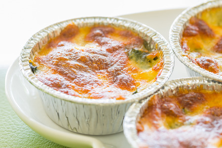 spinage: Spinach gratin Stock Photo