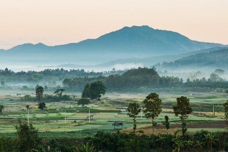 Beautiful landscape of countryside in Thailand