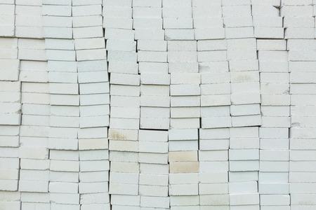 foamed: Stack of foamed concrete block