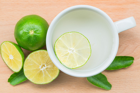 Hot lemon juice Stock Photo