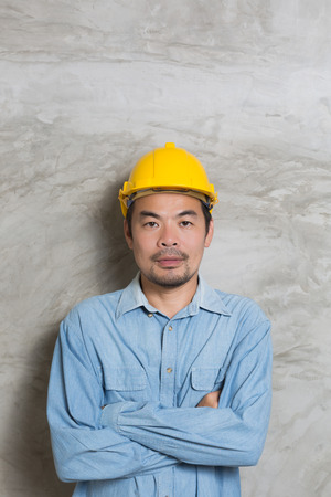 Asian construction technician