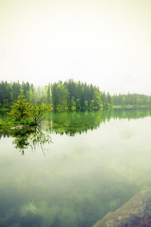spiegelung: hintersee ramsau berchtesgaden oberbayern Stock Photo