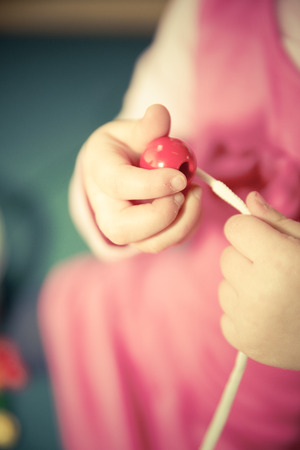 pratice: kid pratice fine motor skills Stock Photo