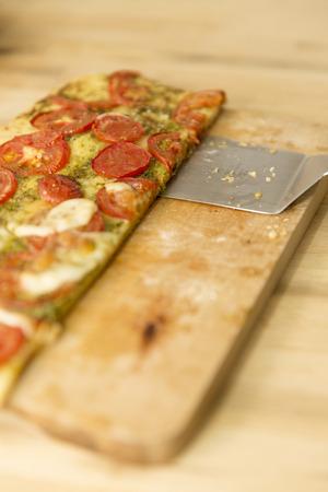 herbage: tomato pizza Stock Photo