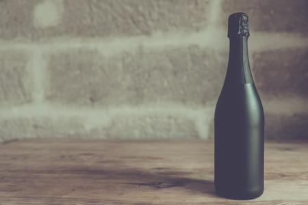 zwarte champagnefles