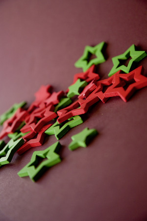 christmasy: Christmasy red green star christmas holly decoration