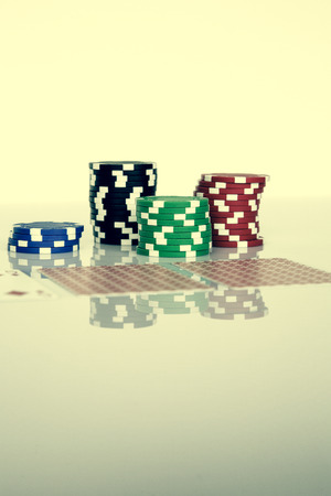 texas holdem: Texas Holdem poker game gamble Stock Photo