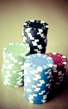 holdem: Texas Holdem poker game gamble Stock Photo