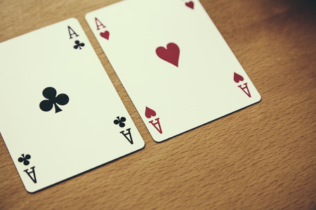 gamble: Texas Holdem poker game gamble Stock Photo