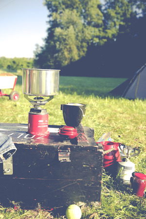 firestarter: Camping outside at the wild nature