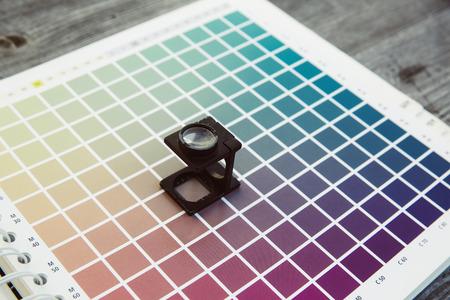 profile measurement: cmyk color management linen tester print office