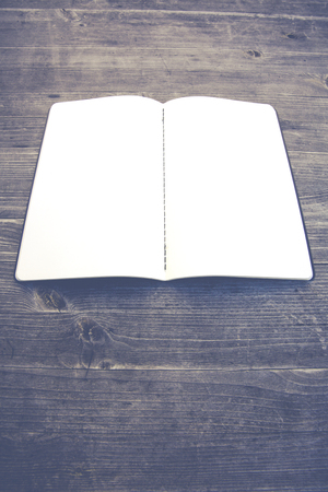memorize: clean white and empty notebook