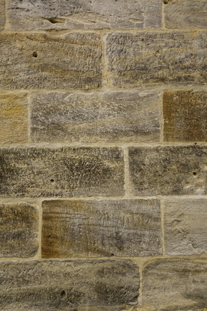 sand stone: Old sand stone wall Stock Photo