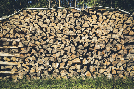 stack of firewood: stack of firewood