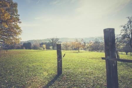 sonnige Herbstlandschaft Lizenzfreie Bilder