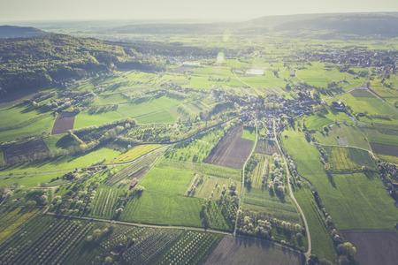 Kirschblüte im Ballon am Oberfranken Bayern Deutschland Lizenzfreie Bilder