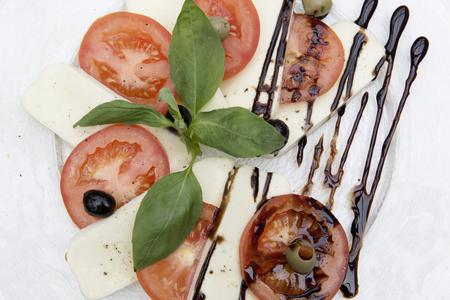 fresh caprese salad Standard-Bild