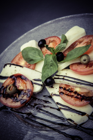 caprese: fresh caprese salad Stock Photo