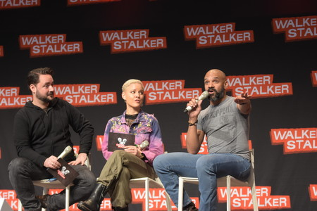 MANNHEIM, GERMANY - MARCH 17: Actor Khary Payton (Ezekiel on The Walking Dead) at the Walker Stalker Germany convention. (Photo by Markus Wissmann)