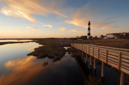 Bodie Island Lighthouse OBX Reflections Sunrise photo