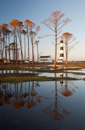 Bodie Island Lighthouse OBX Golden Reflections photo