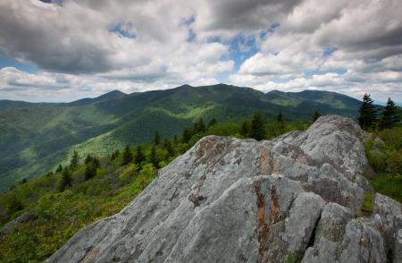 Blue Ridge Mountain Rugged Rock Outcrop photo
